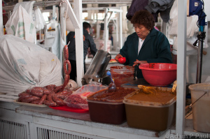 A typical scene at a non-american food market